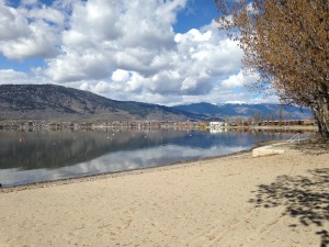 Osoyoos RV Park Beach in the Spring iPhone Photos