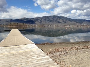 Osoyoos RV Park Spring iPhone Photos of Dock