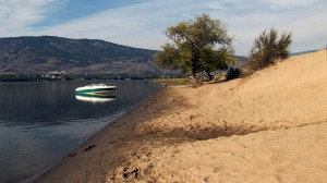 Summer beach in Osoyoos
