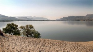 White sands beach over looking Osoyoos Lake